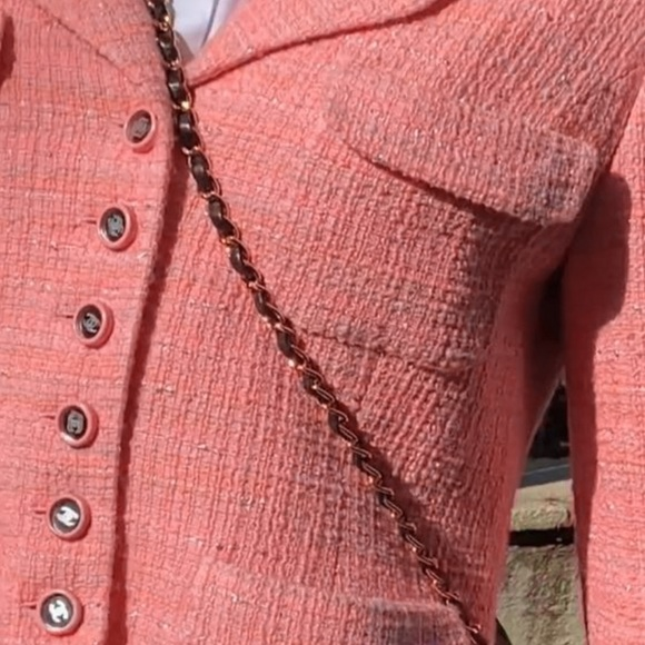 Chanel Vintage Cruise 1995 Salmon Pink 95C Jacket